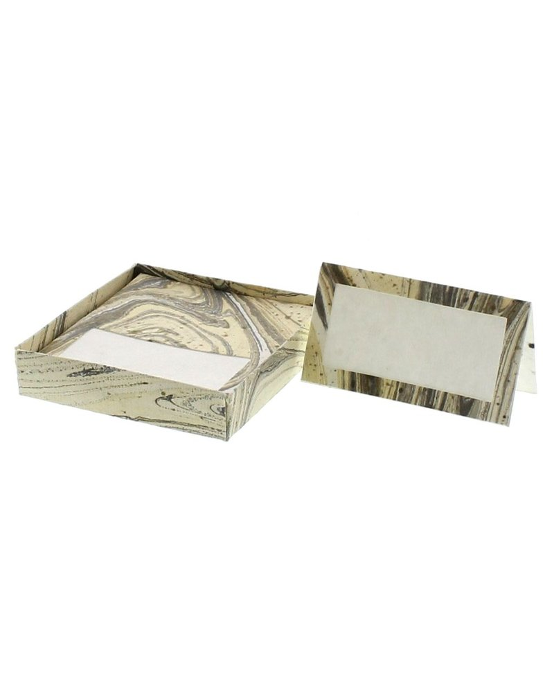 HomArt Marbleized Table Tent Place Cards - Box of 16  Grey - Set of 2 boxes