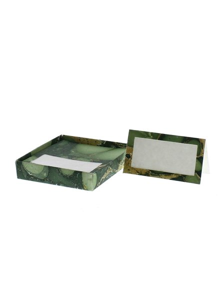 HomArt Marbleized Table Tent Place Cards - Box of 16  Green - Set of 2 boxes