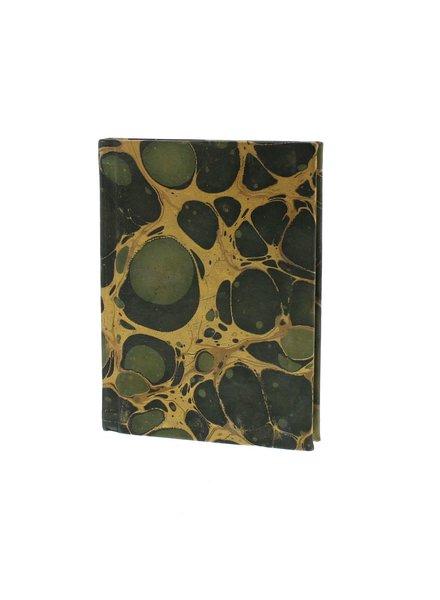 HomArt Marbleized Leather Journal  Green