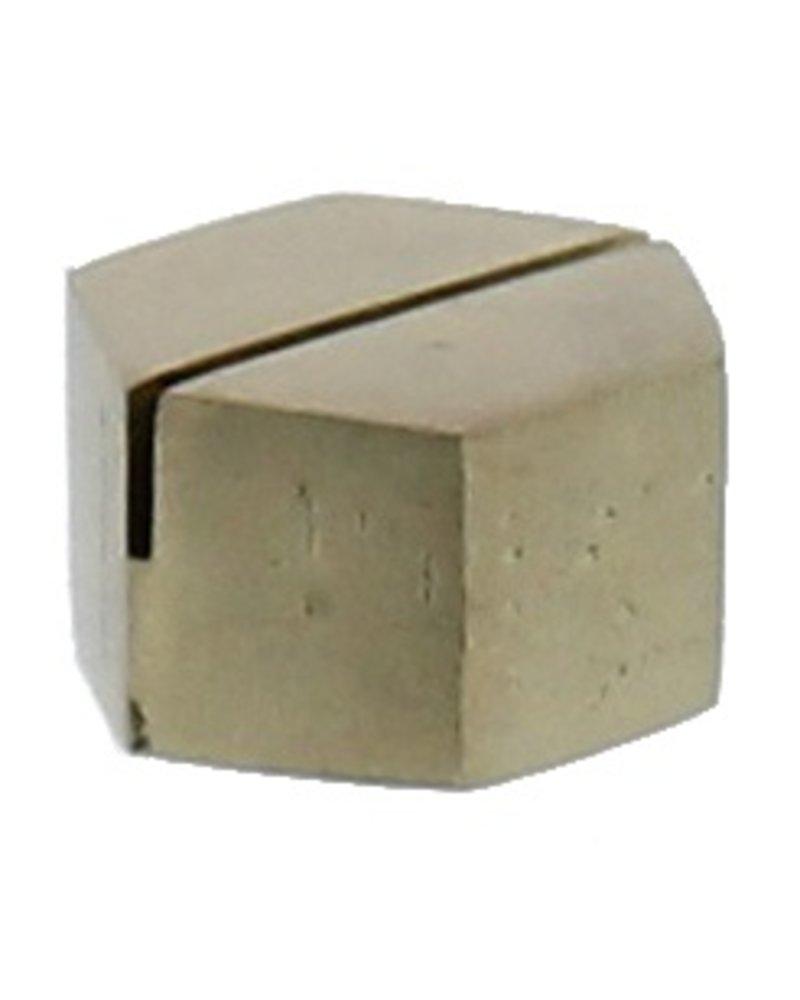 HomArt Brass Cast Iron Hexagon Place Card Holder