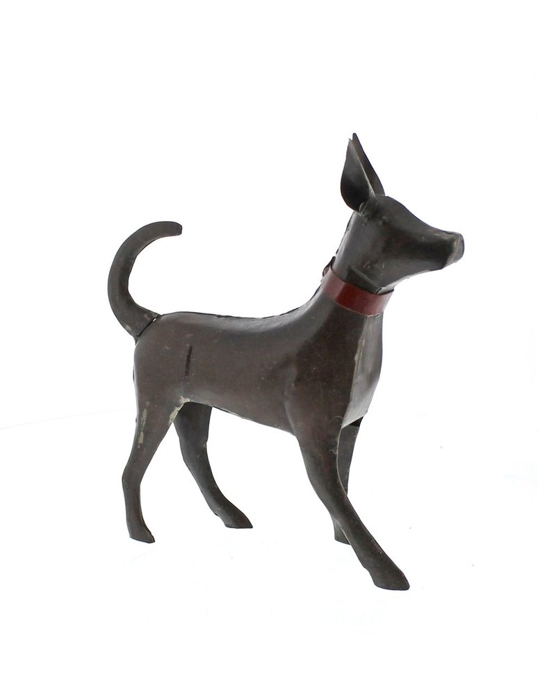 HomArt Reclaimed Metal Walking Dog - Small, Rust