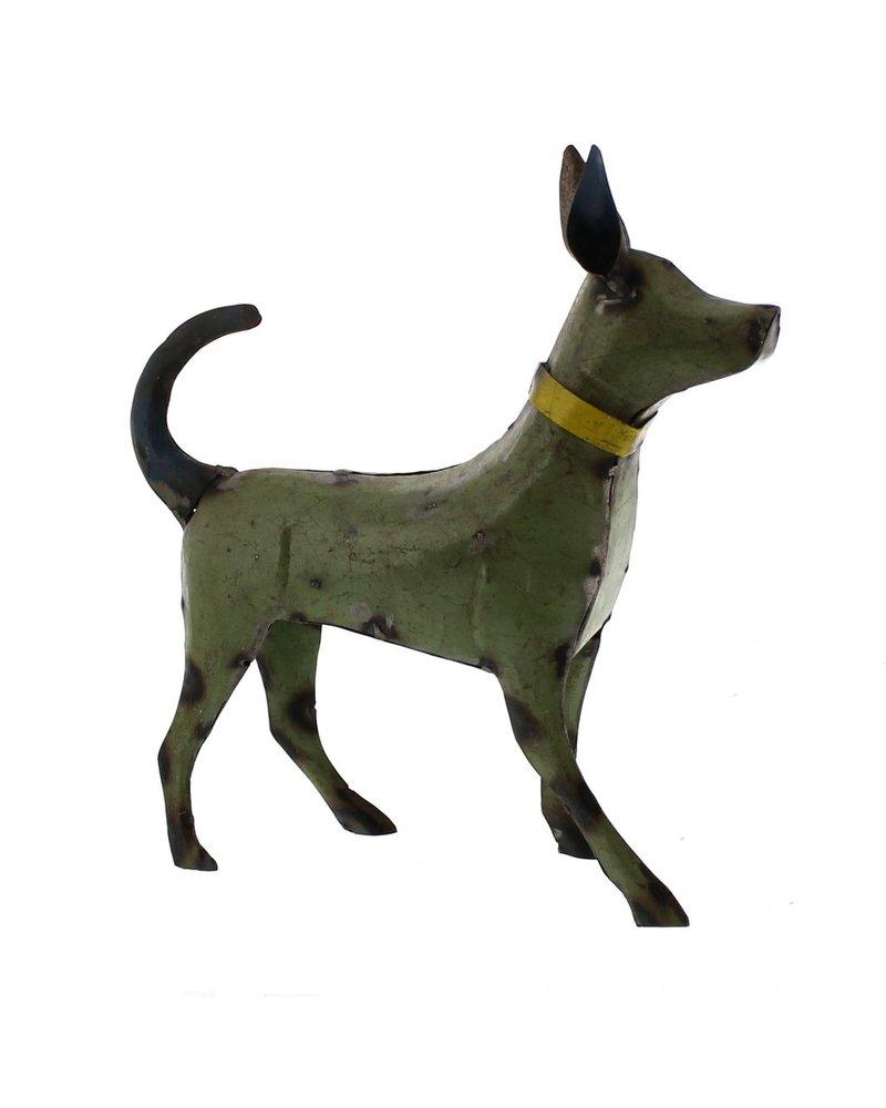 HomArt Reclaimed Metal Walking Dog - Small, Green