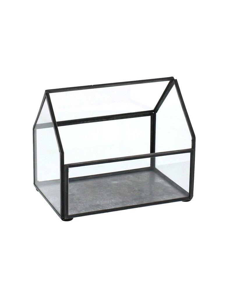 HomArt Pierre Cottage Glass Terrarium - Small