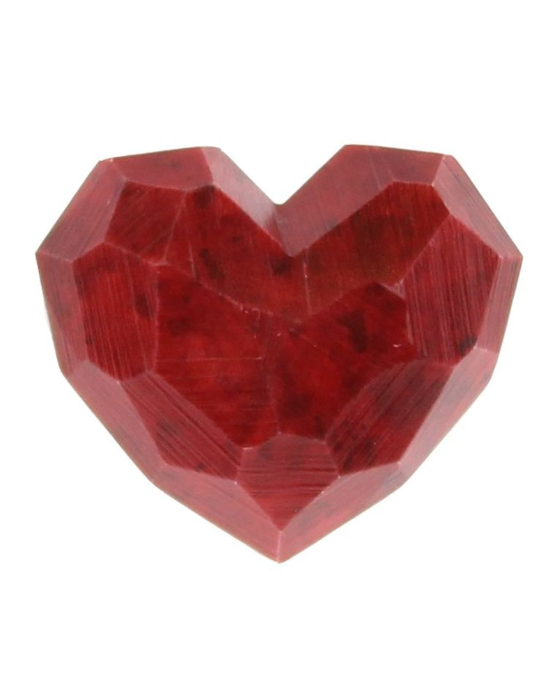 HomArt Faceted Soapstone Hearts - Sm -Set of 2