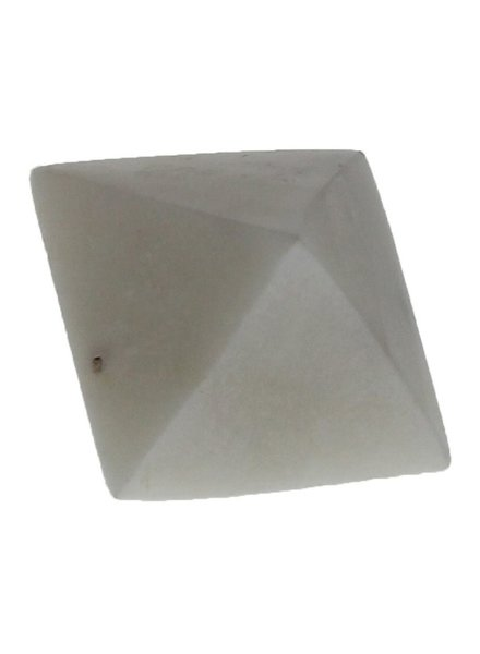 HomArt White Soapstone Geometric Object - Octahedron