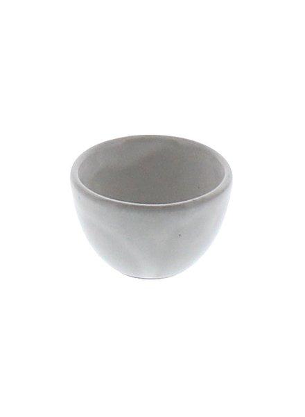 HomArt Liam Ceramic Sauce Bowl - White Glaze  White Glaze