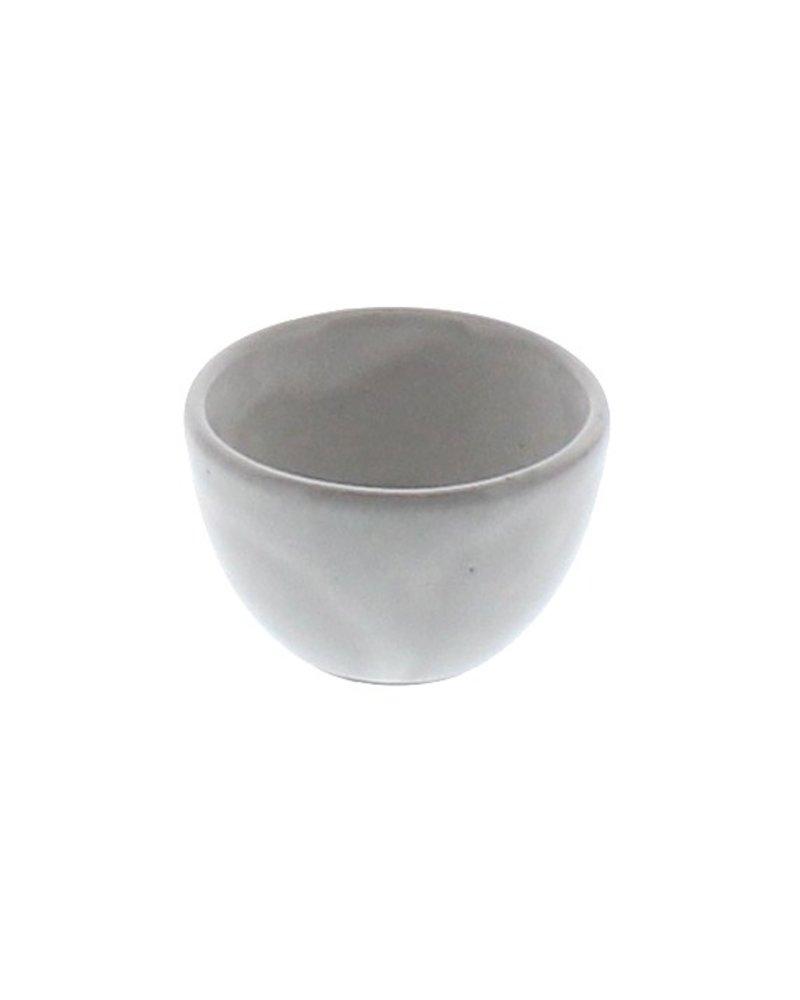 HomArt White Glaze Liam Ceramic Sauce Bowl - Set of 2
