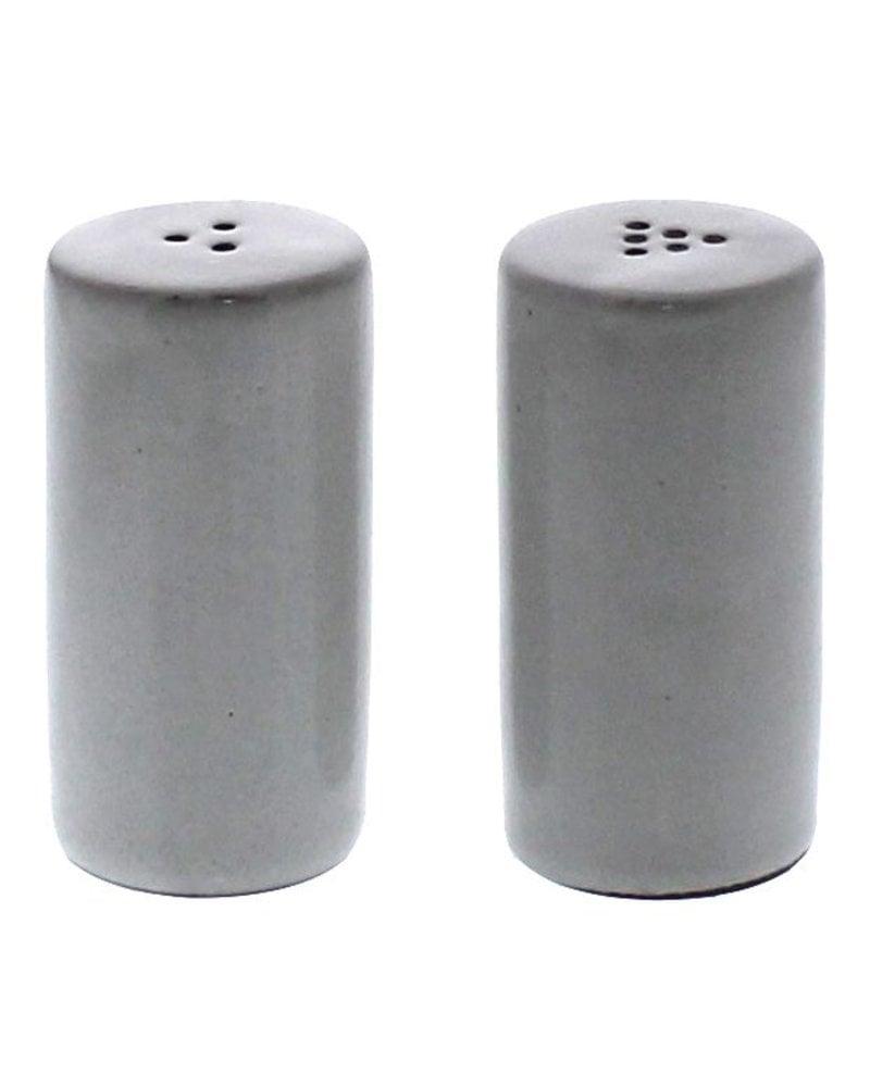 HomArt Liam Ceramic Salt & Pepper Shakers - White Glaze