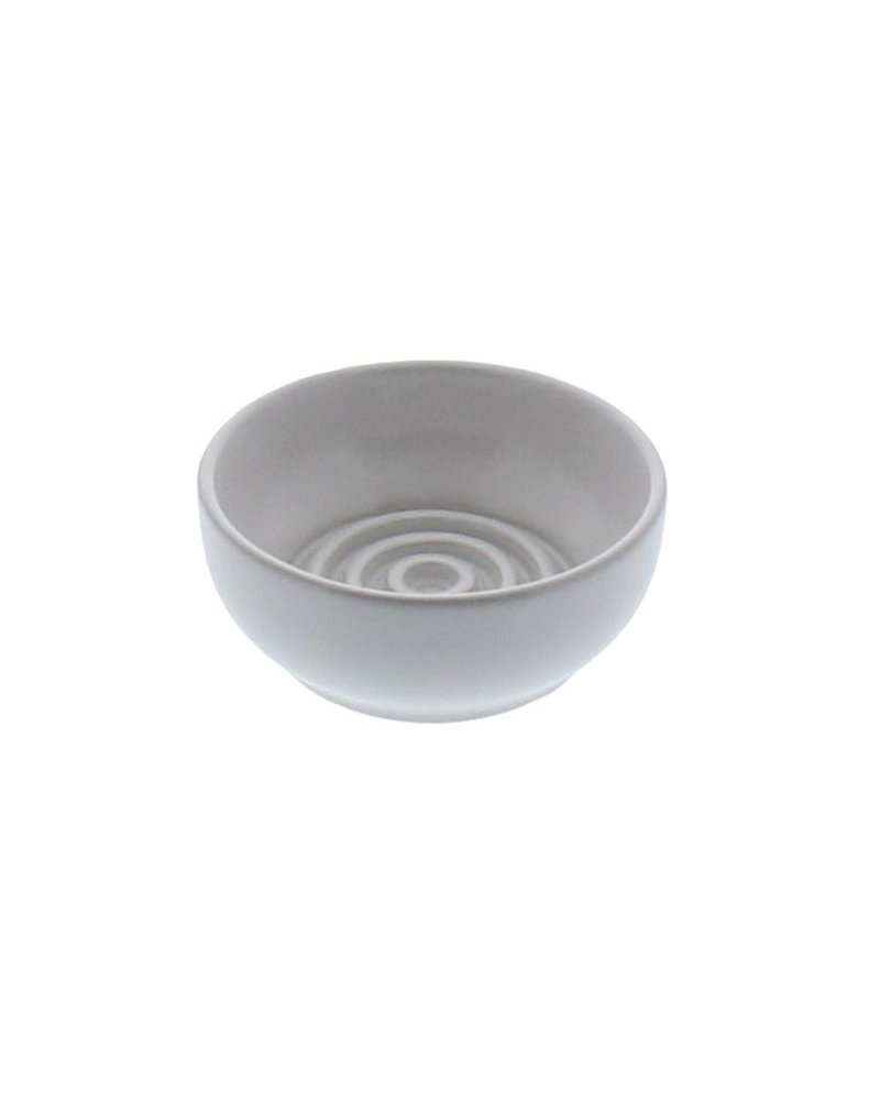 HomArt Ceramic Soap Dish - Raised Ring, Round - Matte White