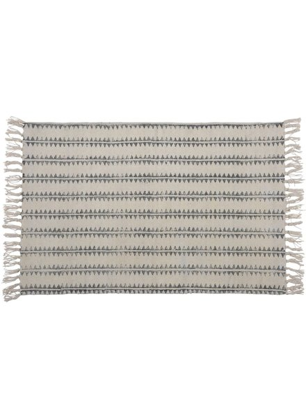 HomArt Block Print Rug Cotton Rug, 2x3   Sawtooth Stripe