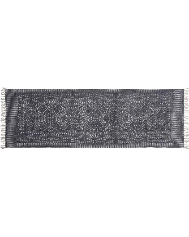 HomArt Indigo Batik Cotton Runner, 2.5x8  Indigo Batik