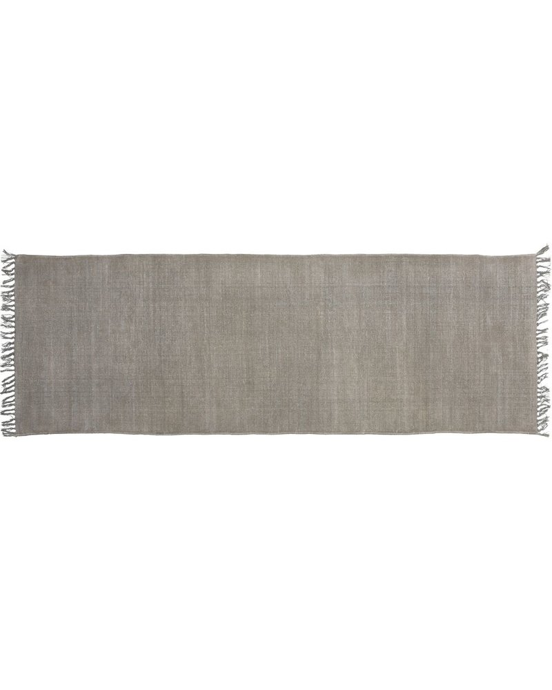HomArt Stonewashed Cotton Runner, 2.5x8  Stonewashed Grey