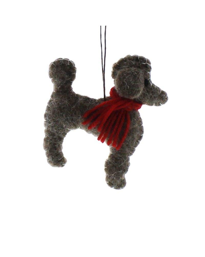 HomArt Felt Dog Ornament - Poodle