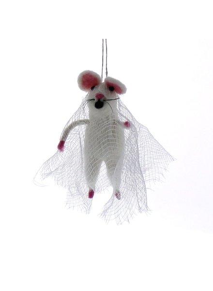 HomArt Felt Bride Mouse Ornament