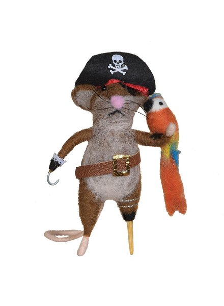 HomArt Felt Pirate Mouse Ornament