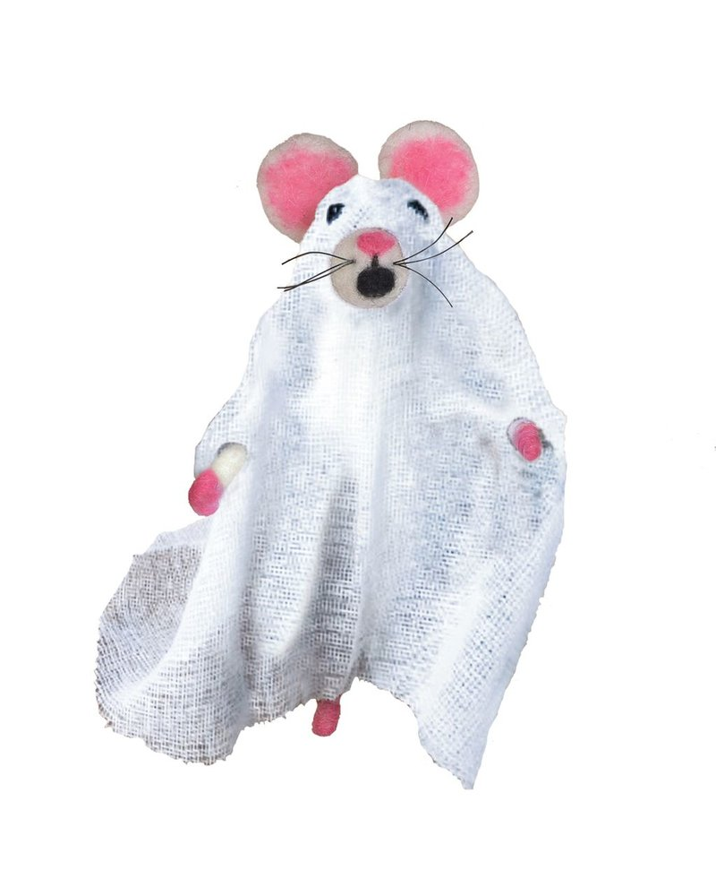 HomArt Felt Ghost Mouse Ornament