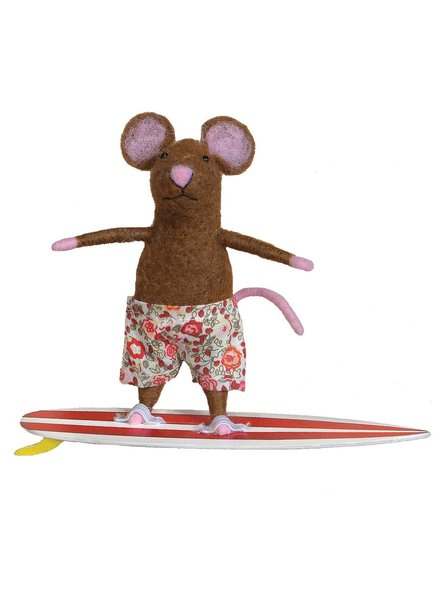HomArt Felt Surfer Mouse Ornament