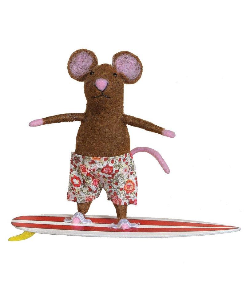 HomArt Felt Surfer Mouse Ornament