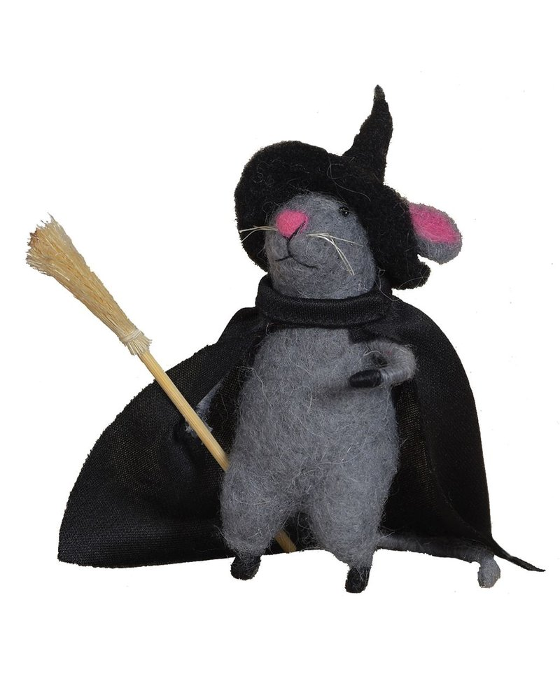 HomArt Felt Witch Mouse Ornament