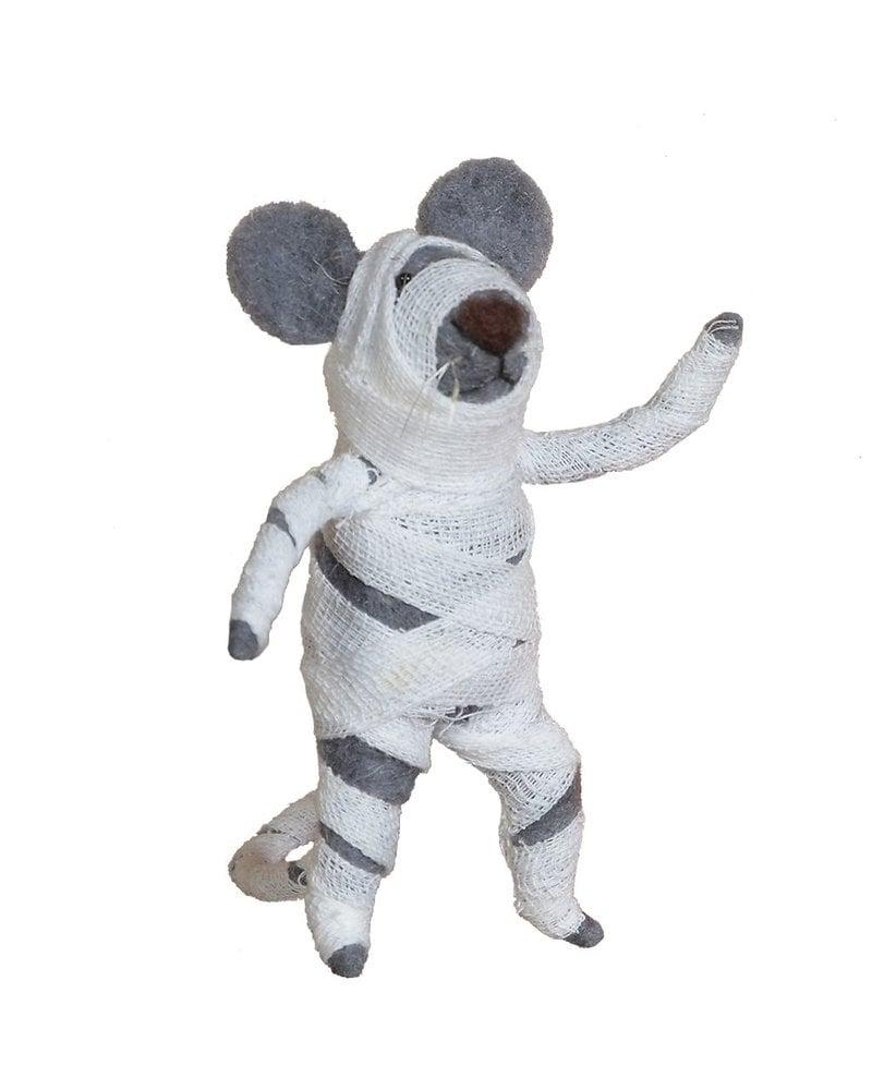 HomArt Felt Mummy Mouse Ornament