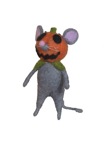 HomArt Felt Pumpkin Head Mouse Ornament