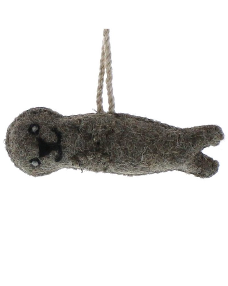 HomArt Felt Otter Ornament  Grey