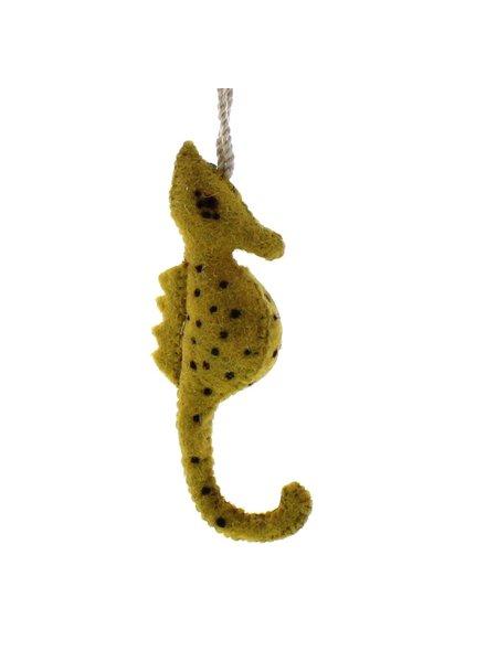 HomArt Felt Seahorse Ornament  Mustard
