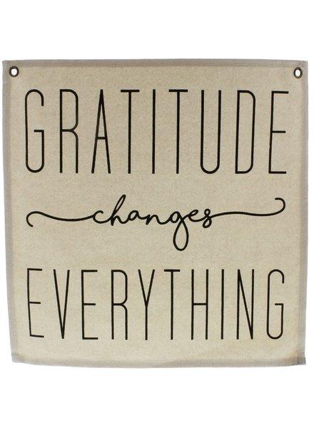 HomArt Canvas Banner - Gratitude - Set of 6