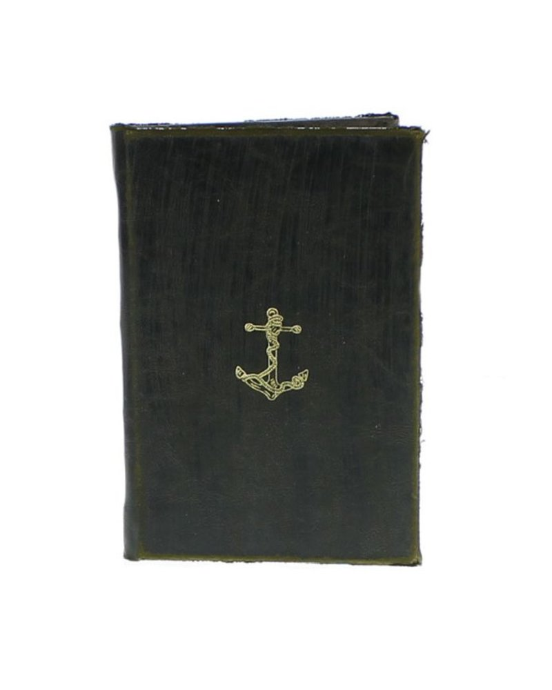 HomArt Maritime Embossed Journal - Anchor - Black