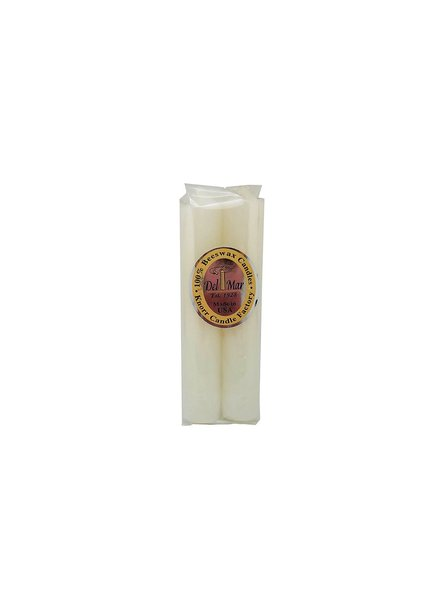 "Knorr Beeswax Products Solid Beeswax Taper 6"" Ivory - Set of 2 (online only)"
