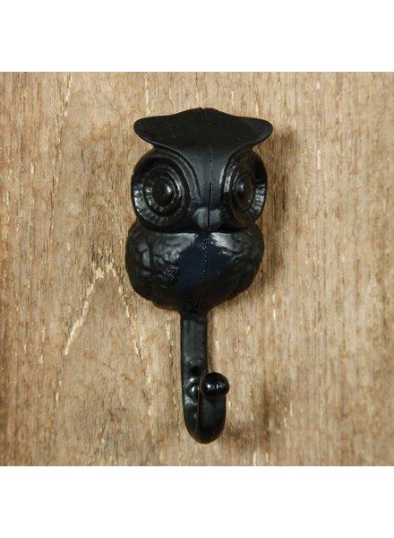 HomArt Owl Hook - Cast Iron Black