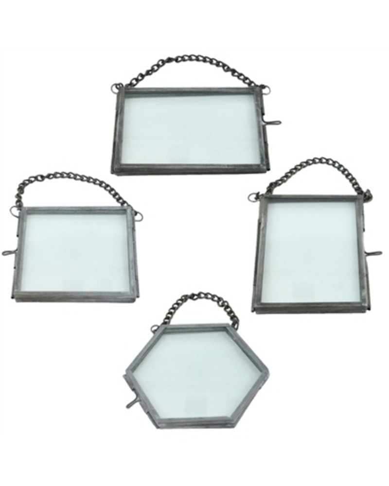 HomArt Pierre Ornament Frame - 3.5x2.5 Horizontal Zinc - Set of 2