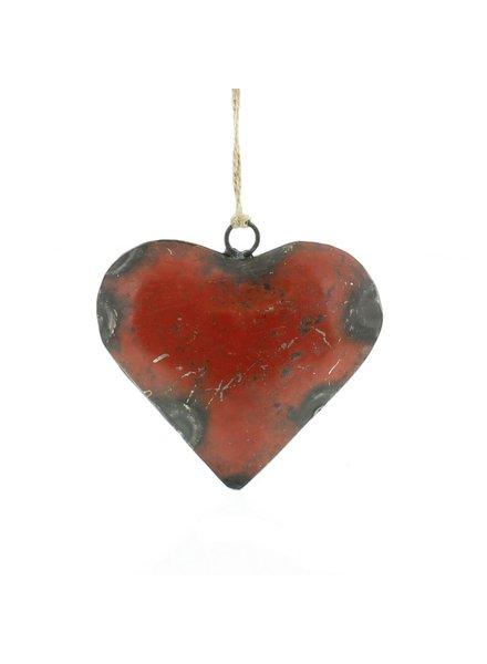 HomArt Reclaimed Metal Heart Ornament - Sm