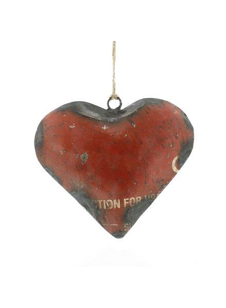 HomArt Reclaimed Metal Heart Ornament - Lrg