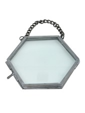 HomArt Pierre Ornament Frame -3.25 x3.0 Hexagon Zinc - Set of 2