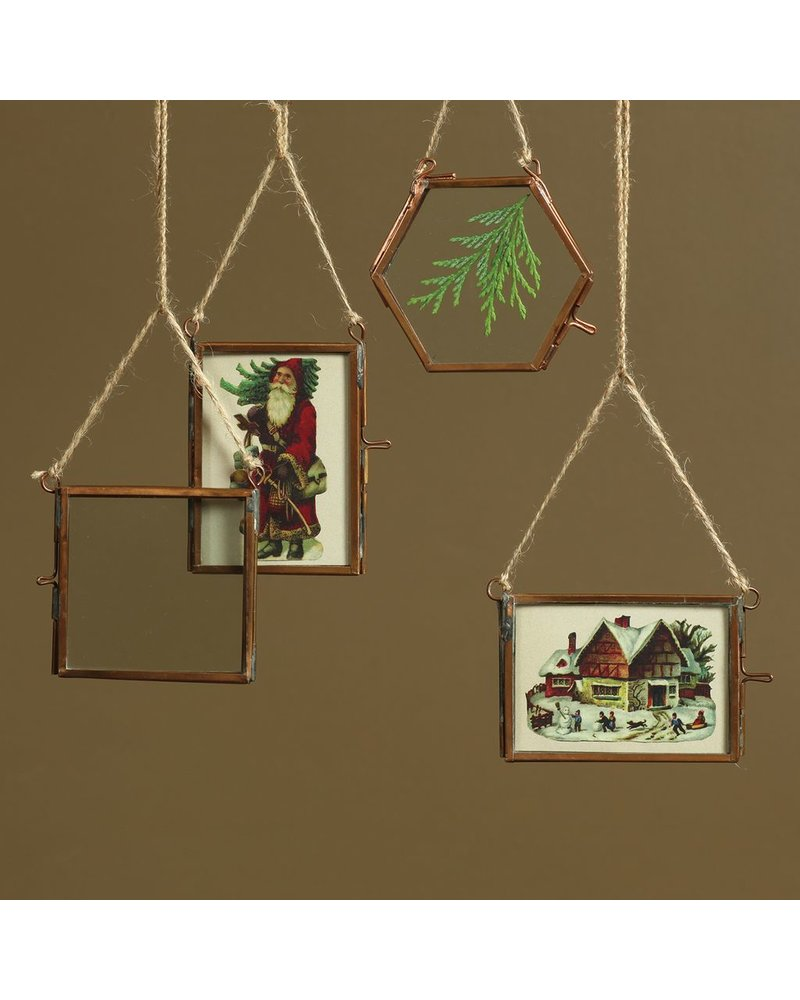 HomArt Cornell Ornament Frame - 3.25 x3.0 Hexagon - Copper
