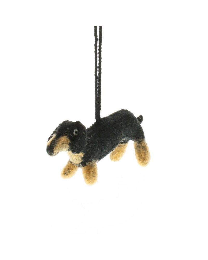 HomArt Felt Dog Ornament - Dachshund