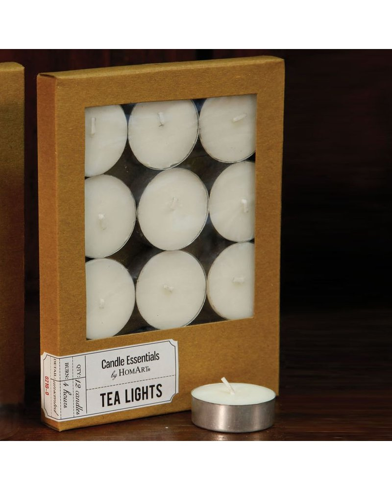 HomArt Tealight - Box of 12 Ivory - Set of 2 Boxes
