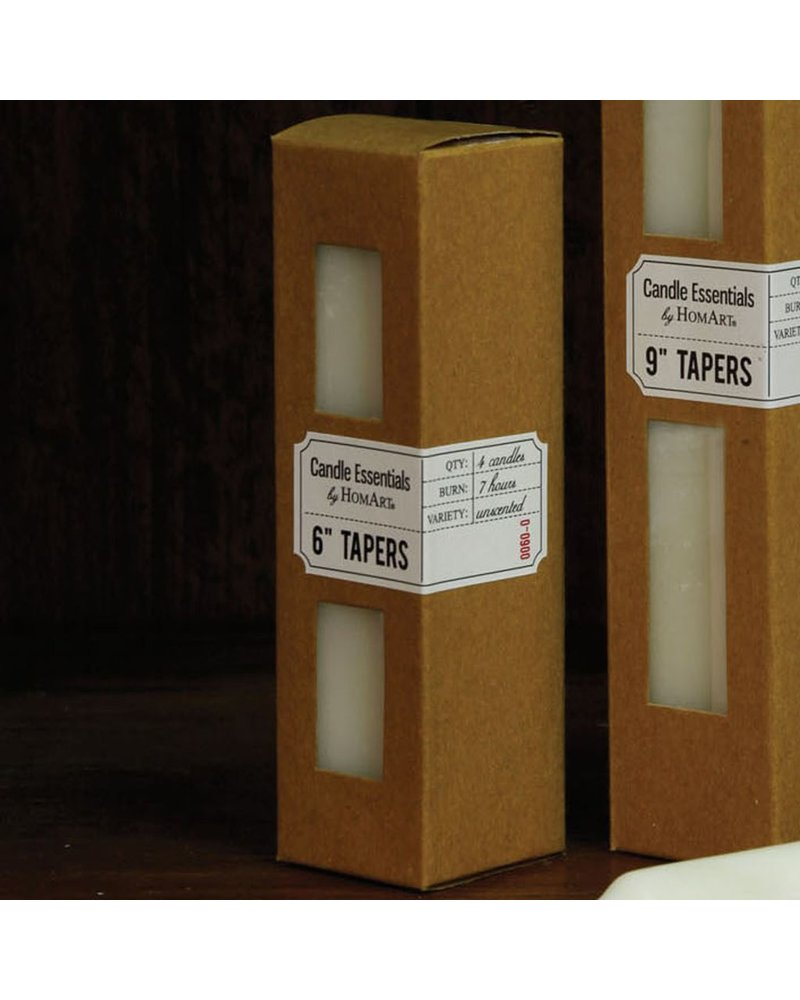 HomArt Taper 6 in - Box of 4 Ivory - Set of 2 Boxes