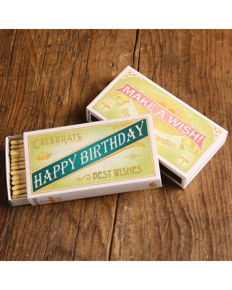 HomArt Happy Birthday HomArt Matches - Set of 3 Boxes