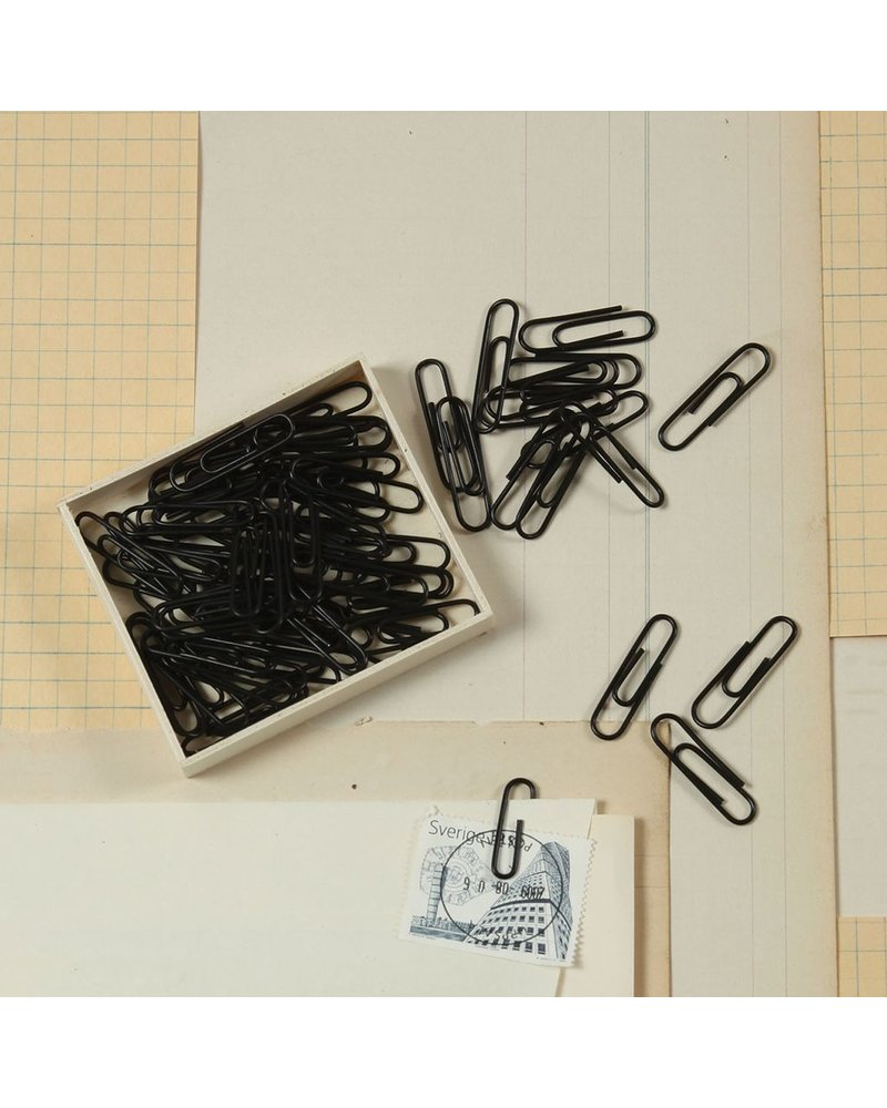 HomArt Black Paper Clips, Set of 12