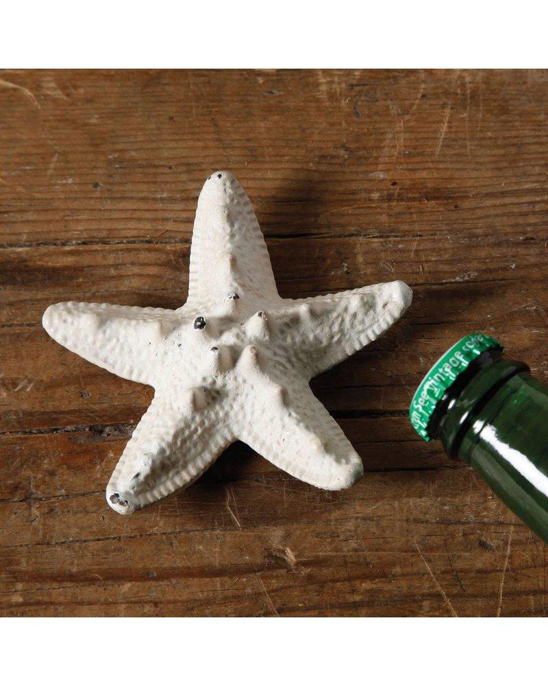 HomArt Starfish HomArt Cast Iron Bottle Opener - Antique White