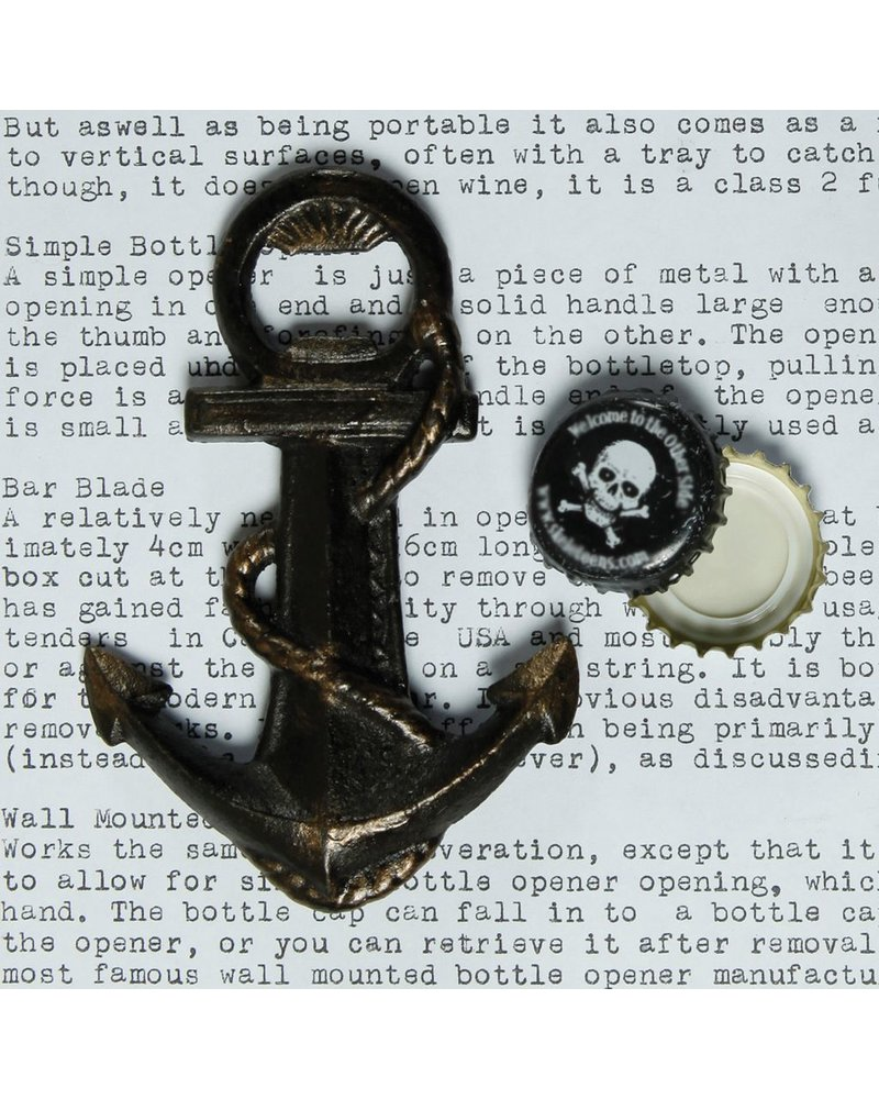 HomArt Anchor HomArt Cast Iron Bottle Opener Natural