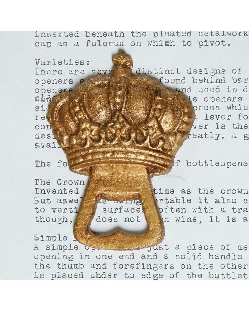 HomArt Gold Crown HomArt Cast Iron Bottle Opener - Set of 2