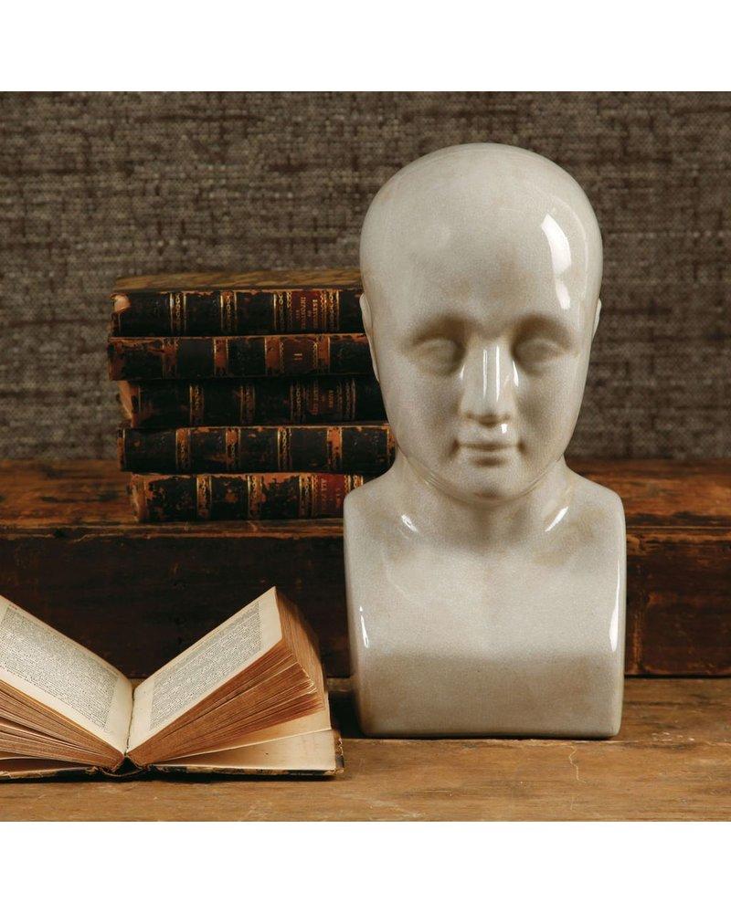HomArt Phrenology Head - Ceramic - Lrg White