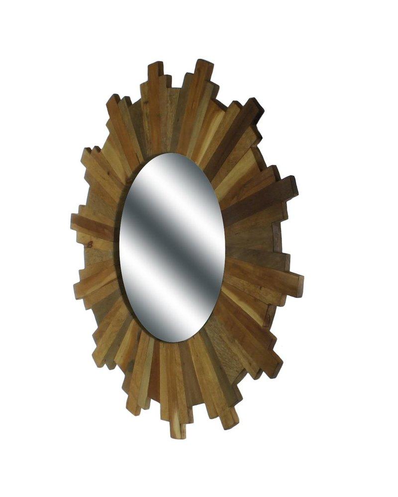 HomArt Sunburst Wood Mirror