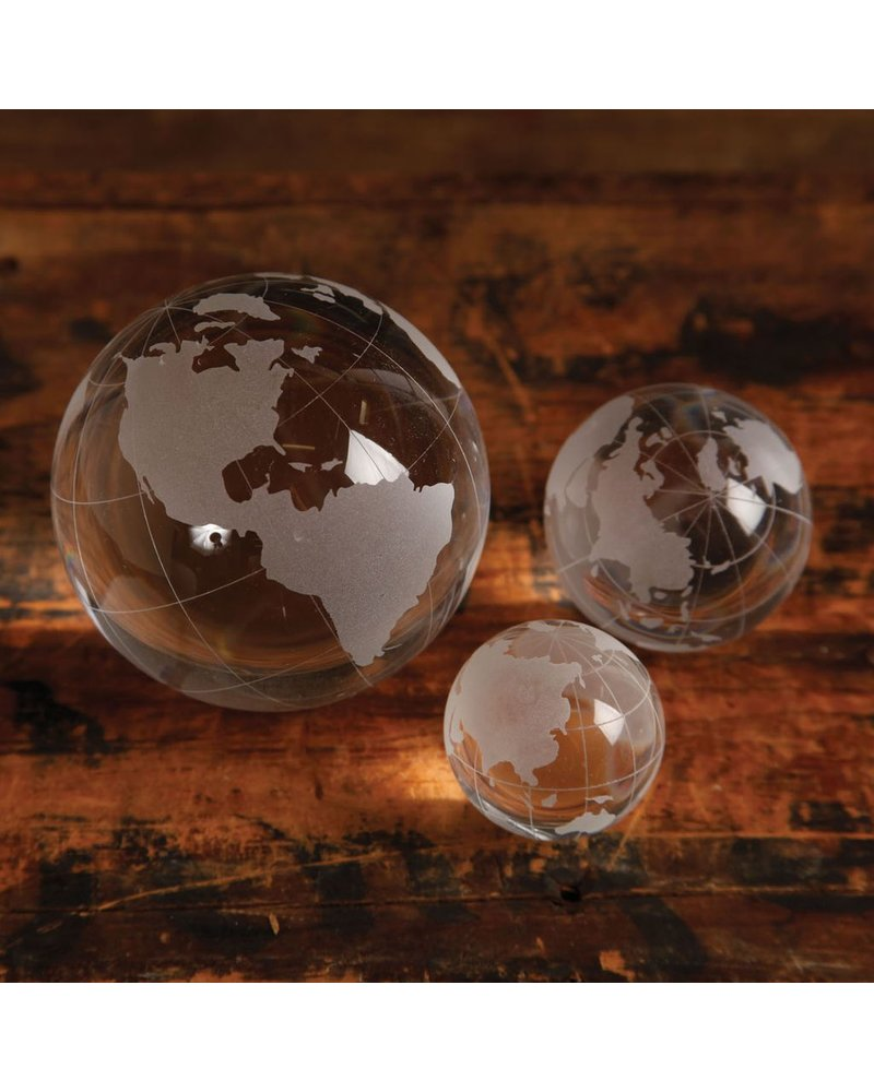 HomArt Medium Etched Glass Globe - Set of 2