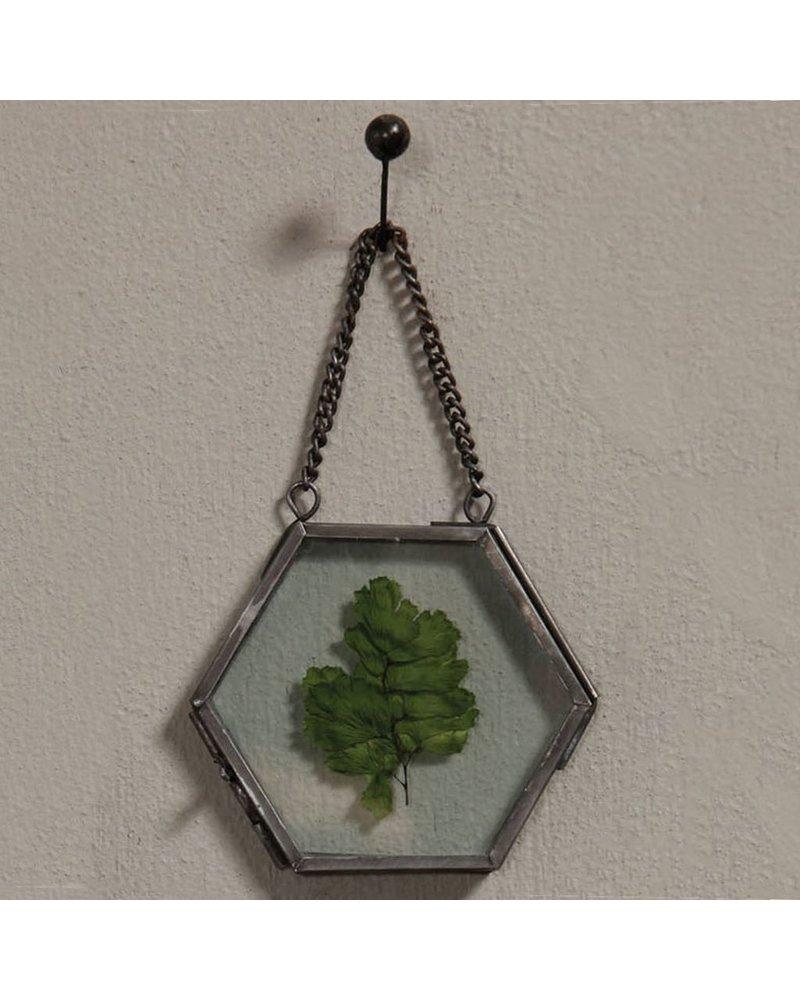 HomArt Pierre Ornament Frame -3.25 x3.0 Hexagon Zinc