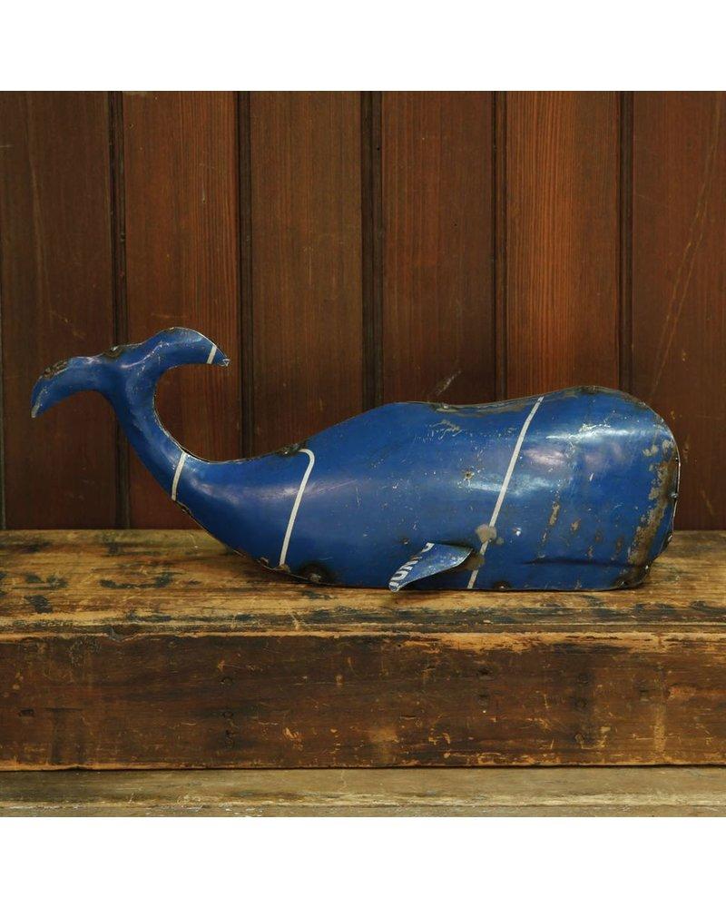 HomArt Reclaimed Metal Whale-Sm