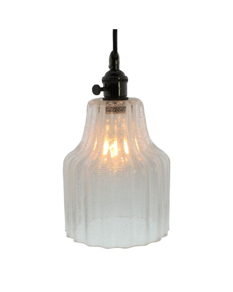 HomArt Stina Glass Pendant Light - Sm - Clear